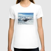 low poly T-shirts featuring low poly mountains by tony tudor