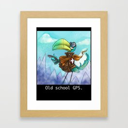Old school GPS. Framed Art Print