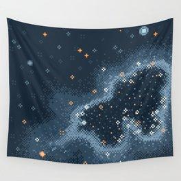 Grey Rift Galaxy (8bit) Wall Tapestry