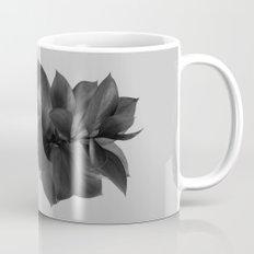 GREEN FOLIAGE BLACK on GREY Mug