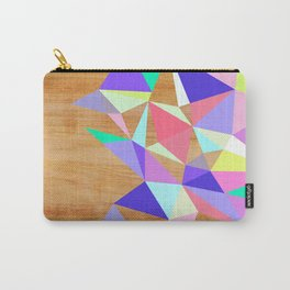 Wooden Geo Pastel Carry-All Pouch