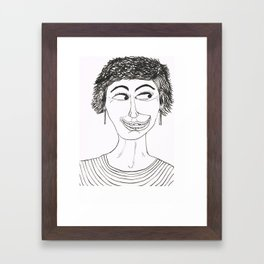 Happy and Loco Framed Art Print