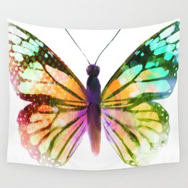 Yellow Butterfly Wall Tapestry
