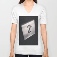 number V-neck T-shirts featuring Number 2 Table Number by Redhedge Photos