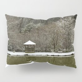 Snow at the Pond Pillow Sham