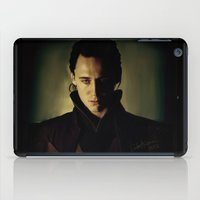 loki iPad Cases featuring Loki by LindaMarieAnson