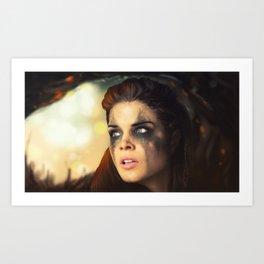 Octavia Blake. Marie Avgeropoulos The 100 Art Print
