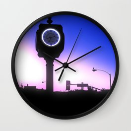Morning Sunrise In Hermosa Beach Wall Clock