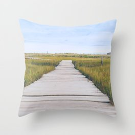 The Spit, Scituate MA Throw Pillow