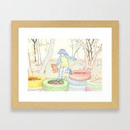 Autumn Fun Framed Art Print