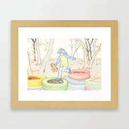 Autumn Fun Framed Art Print