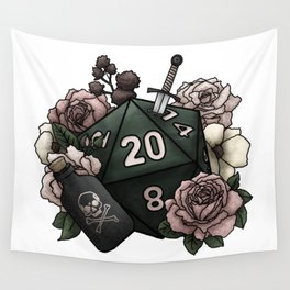 Rogue Class D20 - Tabletop Gaming Dice Wall Tapestry