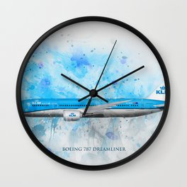 Klm Boeing 787 Dreamliner Wall Clock