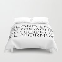 neverland Duvet Covers featuring NEVERLAND by Word with Friends