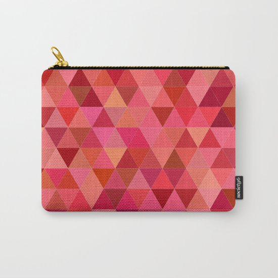 Red triangle tiles Carry-All Pouch