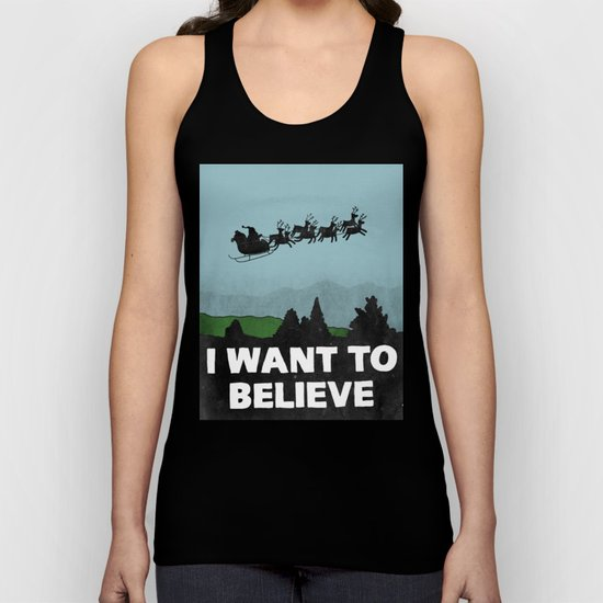 I Want To Believe (in Santa) Unisex Tank Top
