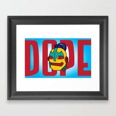 Dope Framed Art Print