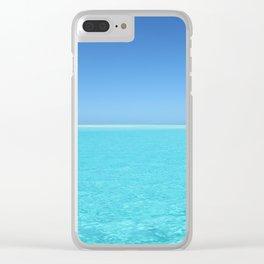 Tropical Escape Clear iPhone Case