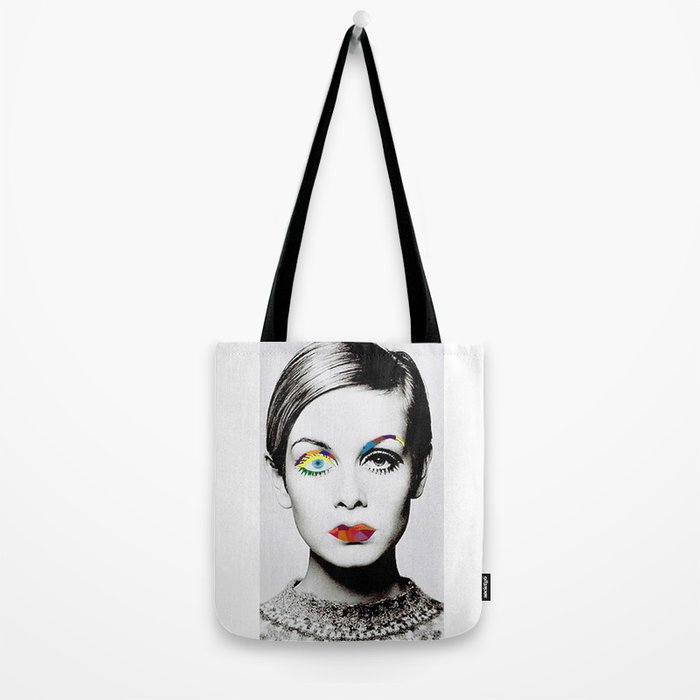 Twiggy Pop Art Tote Bag