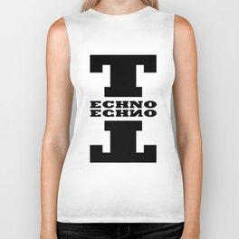 Techno Anagram Biker Tank