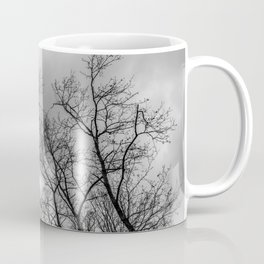 Black and white naked trees silhouette Coffee Mug