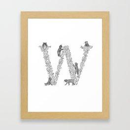 Bearfabet Letter W Framed Art Print