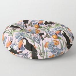 Tucan Garden #pattern #illustration Floor Pillow