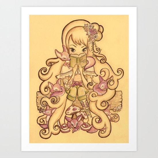 The Fox Mistress Art Print