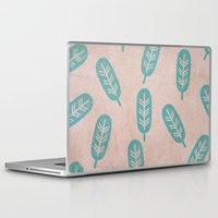 feather Laptop & iPad Skins featuring Feather by sinonelineman