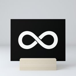 Black and White Infinity Symbols Pattern Mini Art Print