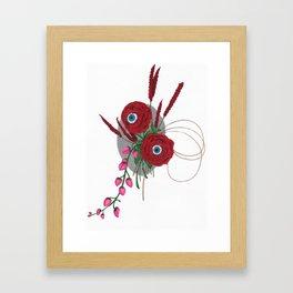 Lovely Looking Roses - Halloween Framed Art Print