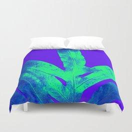 Blue Ultraviolet Green Earth Day Fern Duvet Cover