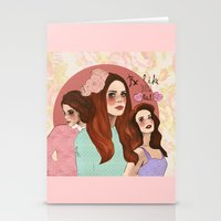 lana Stationery Cards featuring Lana by Clementine Petrova