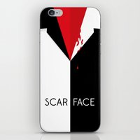 scarface iPhone & iPod Skins featuring Scarface Minimalist Movie Poster by LoweakGraph