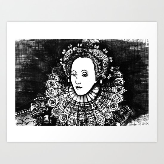 Queen Elizabeth I Portrait  Art Print