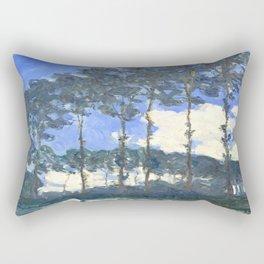 Monet : Poplars on the River Epte Rectangular Pillow