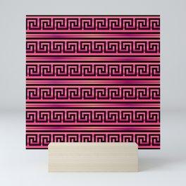 Magenta Greek Pattern Mini Art Print