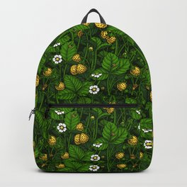 Wild strawberries, yellow and green Backpack