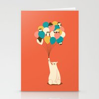 penguin Stationery Cards featuring Penguin Bouquet by Jay Fleck