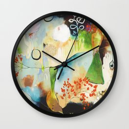 """Rainwash"" Original Painting by Flora Bowley Wall Clock"