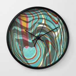 Psychedelic Ripple Wall Clock