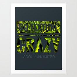 Go texture crazy Art Print