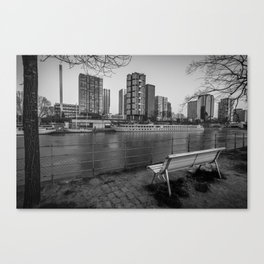 Paris-New York (Black and white) Canvas Print