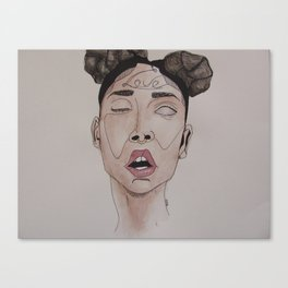 FKA Twigs watercolor  Canvas Print