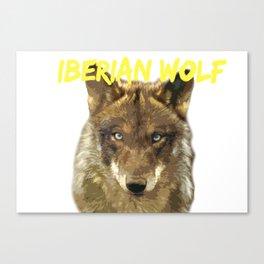 IBERIAN WOLF. Canvas Print