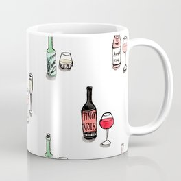 #DrinkWineDay Pattern Coffee Mug