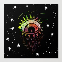 Right Eye of Space Kami Canvas Print