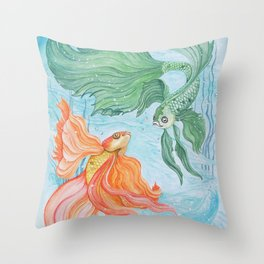 Betta Dance Throw Pillow