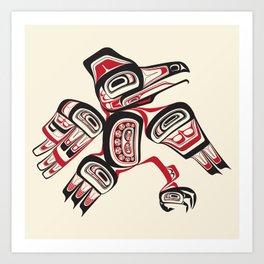 Salish Raven Art Print