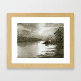 A Splash of Sepia Framed Art Print